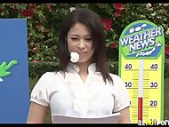 AzHotPorn.com - Weather Forecaster Was Soaked and Wet