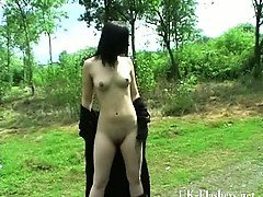 Teen goth babes public pussy flashing and outdoor skinny amateur punk exposing herself in parks with Pixie