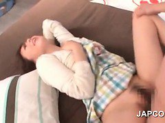 Japanese teen cutie gets snatch fucked doggy style