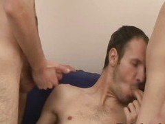 Best Sexy Gay Bareback Threesome and Felching