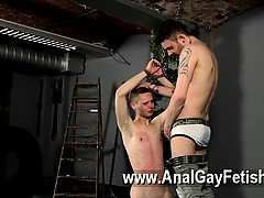 Hot gay scene Slave Boy Fed Hard