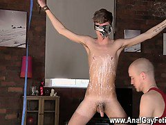 Hot gay scene Kieron Knight enjoys to deep-throat the red-ho