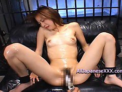 Horny babe gets face drenched in goo cum