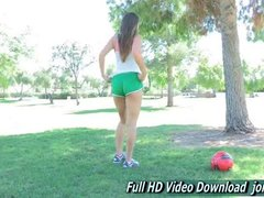 Jeri ftv cute brunette is a fit girl public
