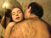 Hairy father and his horny teen daughter