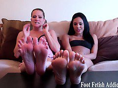 We want you to suck our toes and then deepthroat our feet