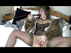 old slut solo on bed