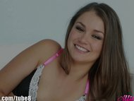 AllieHaze Teen slut Allie Haze's hanjob while she is on the telephone