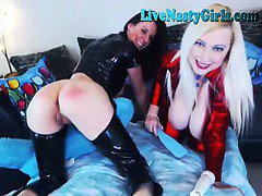 2 Hot Webcam Sluts With A Hitachi 3