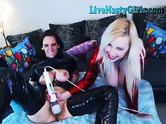 2 Hot Webcam Sluts With A Hitachi 2