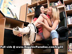 Janet and Irene from sapphic erotica lesbo girls licking