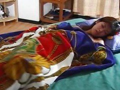 Asako Honma plays with herself in the morning uncensored