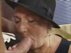 Granny with Hat Fucks Young by TROC