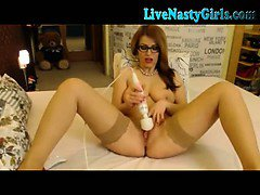Redhead Webcam Girl With Hitachi 3