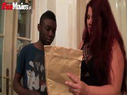 FunMovies Chubby German housewife cuckold with a big black man