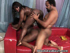 Fat Black Girl With Huge Titties Fucked In Threesome