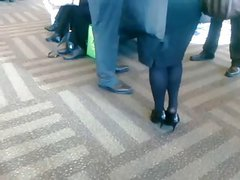 Candid Dipping Shoeplay Feet in Black Tights Nylons