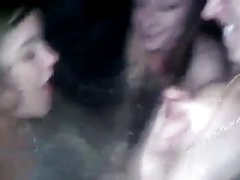 Hottub amateur girls enjoy their friend breastmilk!!