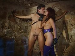German Mistress Unties Her Hung Slave To Have A Threesome