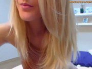 Blonde Cam Girl Masturbating With Her Dildo On Webcam