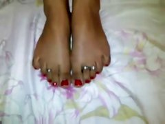 Indian young pretty cute foot job