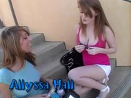 Faye Reagan and Allyssa Hall in some Lesbian action.