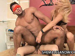 Watch these shemales Duda Little and Camilli Rios get nasty