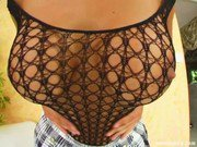 Prime Cups Big tit girl in body stocking finger fucking