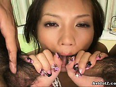 Hina Otsuka kinkiest double blowjob and fuck