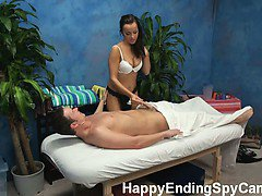 Our hidden spy cameras caught Riley the massage therapist