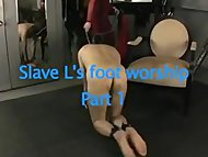 slave Worships Domme Feet One