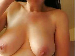 AWESOME MILF TITS AND COCK TEASE TILL CUM