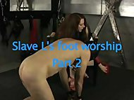 slave Worships Domme Feet Two