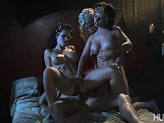 Three undead women seduces mortal