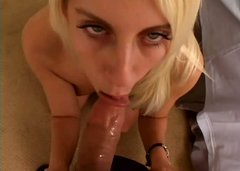 Delicious blond candy gets her snatch nailed doggy style