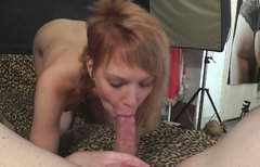 Svelte red-haired student gets her hootchie nailed doggy style in pov