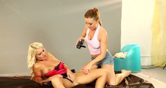 Jaw-dropping lesbians in high heels are ready for some fun
