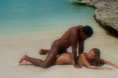 Horny Alissa having sex on the beach with a guy she first met