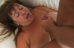 Horny mature mom with huge boobs and fat ass is getting fucked hard in dirty porn scene