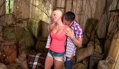 Sexy blondie Blanche Bradburry gives her lover one hell of a blowjob