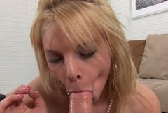Large cock in sexy and small mouth of cock hungry bitch