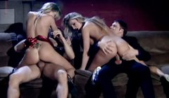 Francesca Fellucci and her lesbian girlfriend take part in hot foursome action
