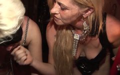 Spoiled chicks Karin Wild and Mistress Cruella take part in theesome