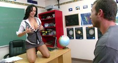 Horny teacher Ava Adams seduces her student and gives him a head