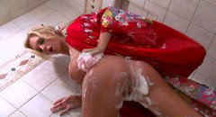 Fantastically shaped blonde slut Brooke Banner is fucked hard in the bathroom