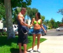 Bodybuilder fucked his sexy girlfriend's wet and tight pussy