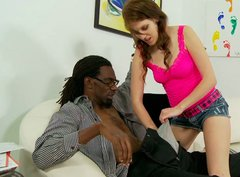 Thin and tall black man with dreadlocks gets seduced