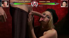 Busty blonde hooker Krissy Lynn dancing for cam before giving deepthroat blowjob