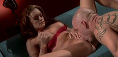 Smoking hot brunette babe gives stout blowjob after her slick pussy is polished properly