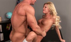 Rapacious blonde babe with perfect body gets nailed rough